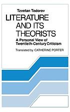 Literature and its theorists : a personal view of twentieth-century criticism
