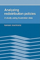 Analyzing redistribution policies : a study using Australian data