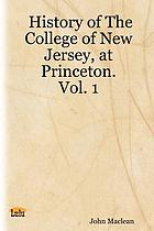 History of the College of New Jersey, (Princeton University)
