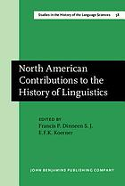 North American contributions to the history of linguistics