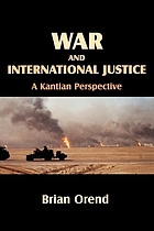 War and international justice : a Kantian perspective