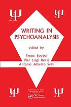Writing in psychoanalysis