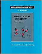 Physical chemistry for the chemical and biological sciences