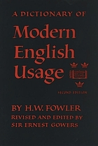 Modern english usage : a dictionary