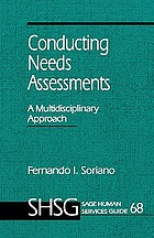 Conducting needs assessments : a multidisciplinary approach