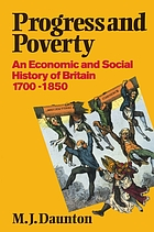 Progress and poverty : an economic and social history of Britain, 1700-1850