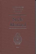 Style manual, 2000