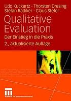 Qualitative Evaluation : der Einstieg in die Praxis