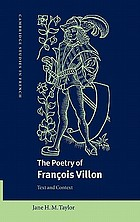 The poetry of François Villon : text and context