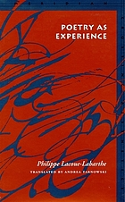 Poetry as experience