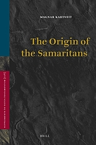 The origin of the Samaritans