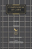 Compendium of laws : under the Nigerian legal system