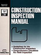 Construction inspection manual