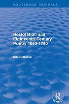 Restoration and eighteenth-century poetry, 1660-1780