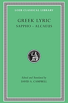 Greek lyric I : Sappho and Alcaeus