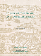 Studies of the Spanish and Portuguese ballad,