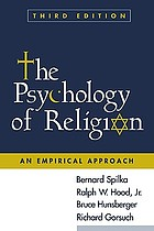 The psychology of religion : an empirical approach
