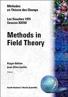 Méthodes en théorie des champs = Methods in field theory