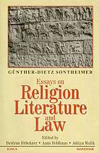 Essays on religion, literature, and law