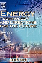 Energy : technology and directions for the future