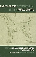 Encyclopedia of traditionnal British rural sports