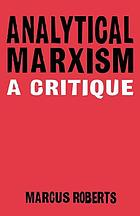 Analytical Marxism : a critique