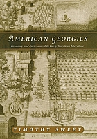 American georgics : economy and environment in early American literature