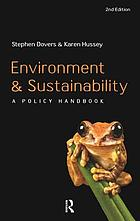 Environment and sustainability : a policy handbook