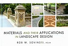 Materials and their applications in landscape design