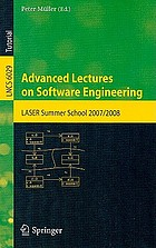 Advanced lectures on software engineering : LASER summer school 2007/2008