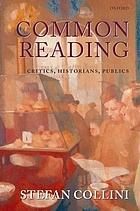 Common reading : critics, historians, publics
