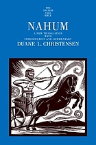 Nahum : a new translation with introduction and commentary