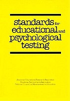 Standards for educational and psychological testing
