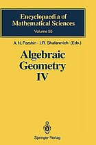 Algebraic geometry. / IV, Linear algebraic groups. Invariant theory