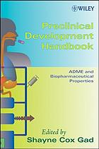 Preclinical development handbook. / ADME and biopharmaceutical properties