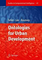 Ontologies for urban development