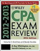 Wiley CPA Examination Review, Outlines and Study Guides.