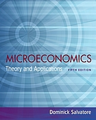 Microeconomics : theory and applications