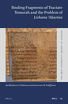 Binding fragments of Tractate Temurah and the problem of lishana 'aḥarina