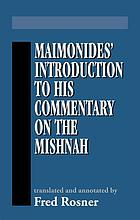 Maimonides' Introduction to his commentary on the Mishnah
