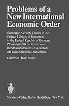 Problems of a new international economic order