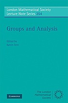 Groups and analysis : the legacy of Hermann Weyl