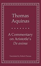 A commentary on Aristotle's De anima