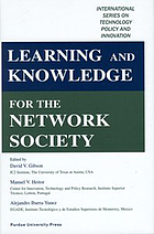 Learning and knowledge for the network society