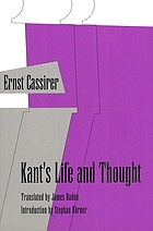 Kant's life and thought