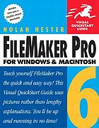 FileMaker Pro 6 for Windows and Macintosh : Includes index