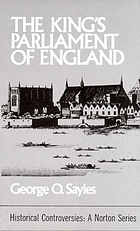 The King's Parliament of England,
