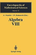 Algebra VIII : representations of finite-dimensional algebras