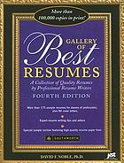 Gallery of best résumés : a collection of quality résumés by professional résumé writers