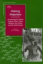 Making majorities : constituting the nation in Japan, Korea, China, Malaysia, Fiji, Turkey, and the United States